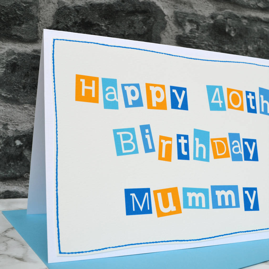 Personalised Womens 40th Birthday Card By Jenny Arnott Cards Gifts