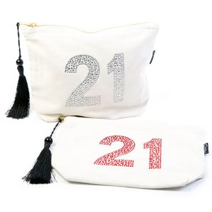 21st Birthday Make Up Bag