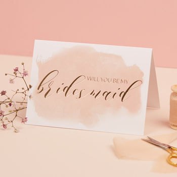 Will You Be My Bridesmaid Gold Foil Card