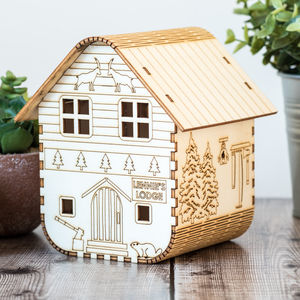 Personalised Forester's Lodge Nightlight - children's lighting