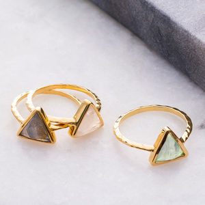 Semi Precious Triangle Ring - top jewellery gifts