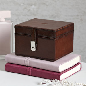 Personalised Leather Stud Keepsake Box - cufflink boxes & coin trays