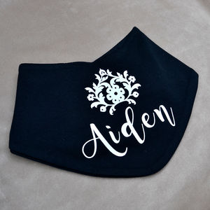 Personalised Black Bandana Bib
