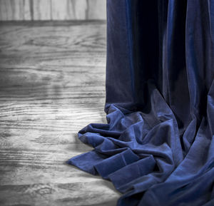 Blue Velvet Eyelet Curtain - curtains
