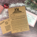 Personalised Vintage Christmas Letter And Certificate