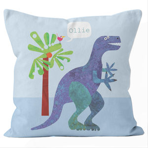 Personalised Dinosaur Cushion - baby's room