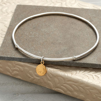 Sterling Silver Elephant Bangle