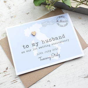 Personalised Anniversary 'To My Husband' Wedding Card - anniversary cards
