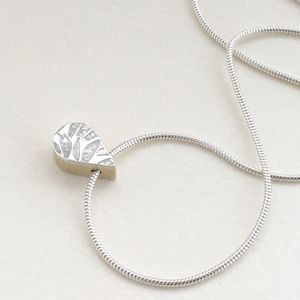 'Tear Drop' Silver Embossed Pendant