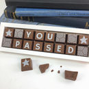 Personalised 'You Passed' Chocolate Exam Results