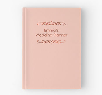 Blush Pink And Copper Wedding Planner Notebook