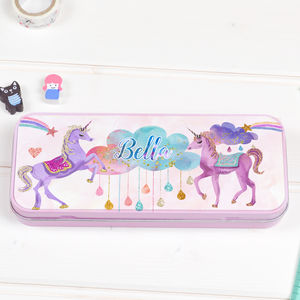 Personalised Pencil Tin Case 'Unicorn' - back to school essentials