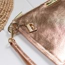 **Personalised Luxe Sparkly Rose Gold Evening Clutch
