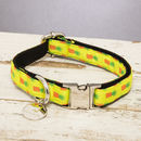 The Soho Yellow Pineapple Dog Collar
