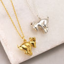 Personalised Flying Dog Necklace