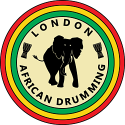 London African Drumming Elephant  logo