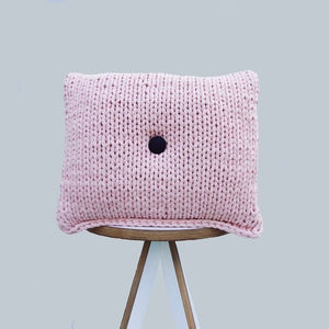 Limited Edition Pale Pink Button Cushion - cushions