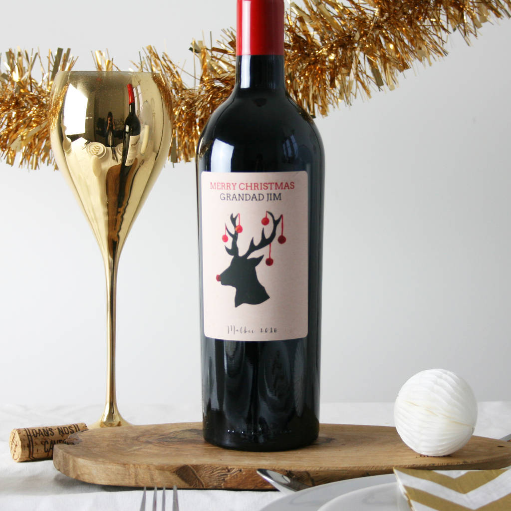 Personalised Christmas Wine Gift