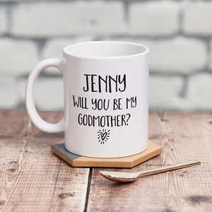 'Will You Be My Godmother?' Mug