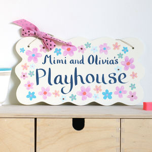 Child's Door Sign Hand Painted Personalisation - door plaques & signs