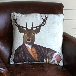 Illustrious Deer Decorative Cushion - patterned cushions