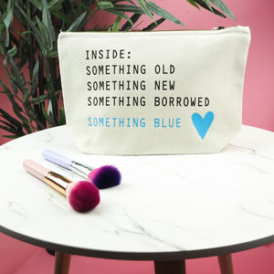 Bride's 'Inside Something Blue' Make Up Bag