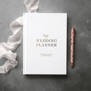 Gold Foil Wedding Planner Book | Engagement Gift