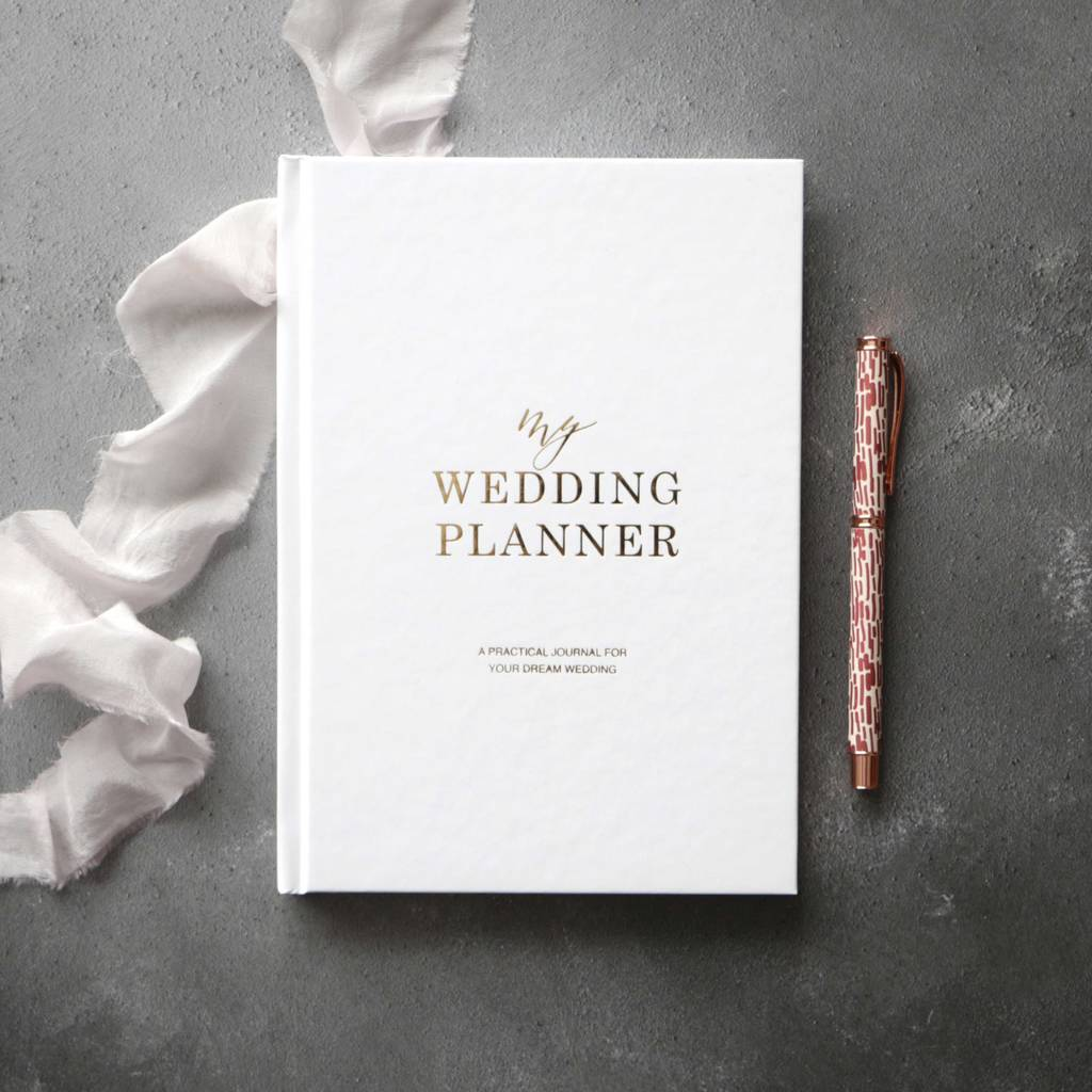 Wedding planner books notonthehighstreet gold foil wedding planner book engagement gift planners records junglespirit Choice Image