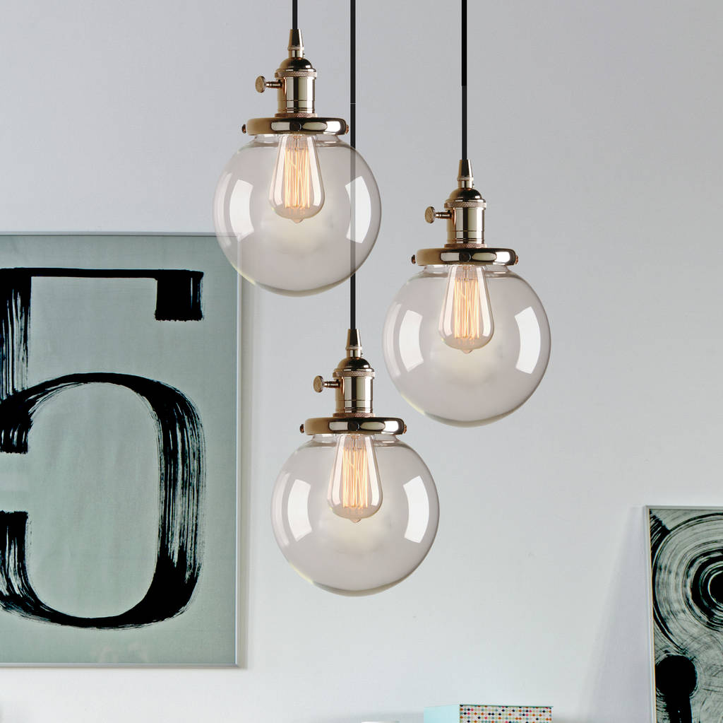 Three Way Contemporary Ceiling Pendant Lighting By Unique