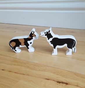 Wooden Animals Cat And Dog
