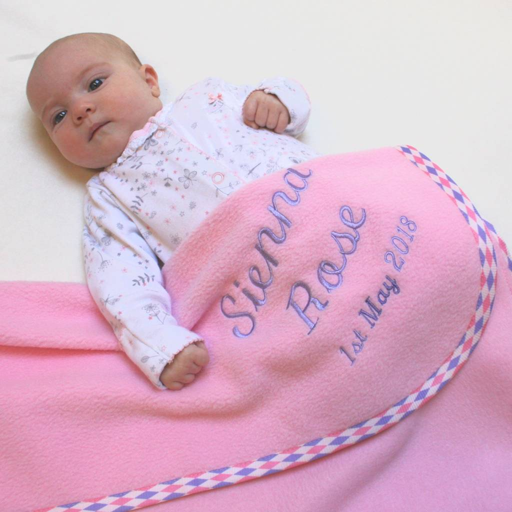 Personalised Harlequin Trim Blanket In Three Sizes