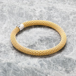 Large Diamond Cut Stretch Bracelet
