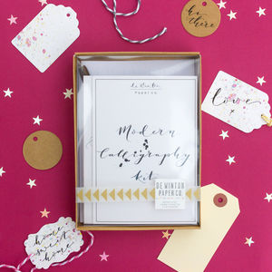 Modern Calligraphy Kit With Gift Tags - invitations