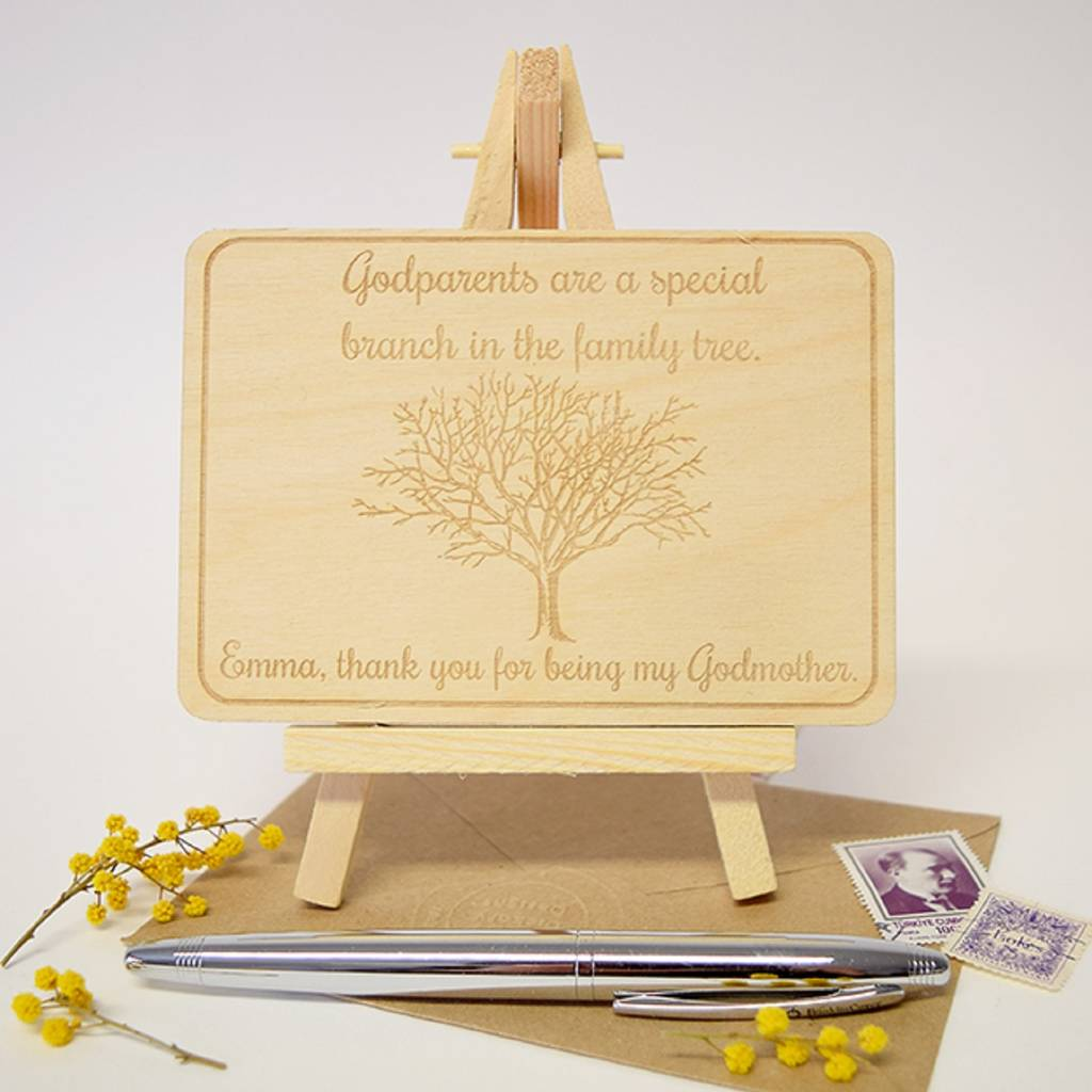 Personalised Godparents Thank You Card By Hickory Dickory Designs
