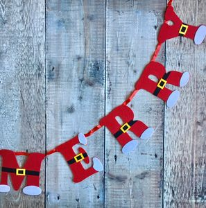 Santa Merry Christmas Garland - view all decorations