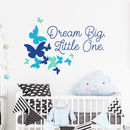 Dream Big Little One Nursery Quote Wall Decal Sticker