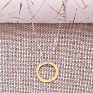 Silver And Gold Infinity Circle Necklace
