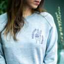 Positive Power Embroidered 100% Organic Jumper