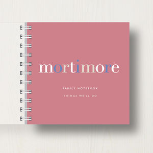 Personalised Family Name Small Notebook