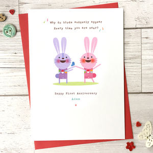 Personalised Love Song Anniversary Card