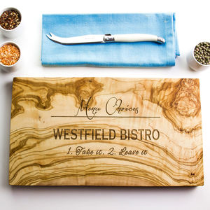Personalised Natural Chopping Or Cheese Board