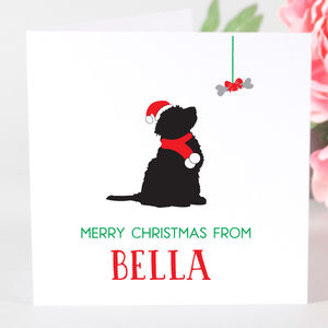 Personalised Cockapoo Dog Christmas Card - cards & wrap