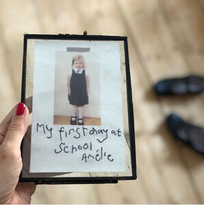 Personalised Embroidered Handwriting Scrapbook Photo