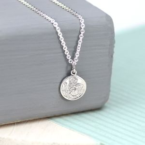 Silver Mini St Christopher - necklaces & pendants