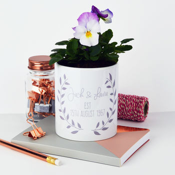 Personalised Anniversary Plant Pot
