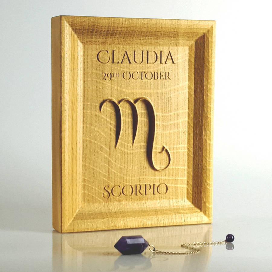 Sagittarius/Capricorn/Aquarius/Pisces Zodiac Gift Oak