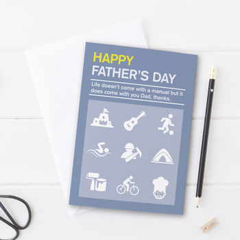 Father's Day Manual Card