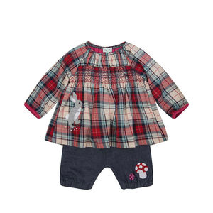 Woven Check Bloomer Set - outfits & sets