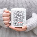 Writing Mug; Gift For Writers