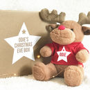 Personalised Christmas Eve Box With Reindeer Toy